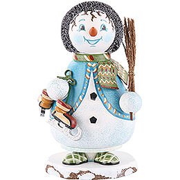 Smoker  -  Gnome Snowflake with Skate 14cm / 5 inch