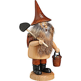 Smoker  -  Mountain Gnome with Shovel  -  18cm / 7 inch