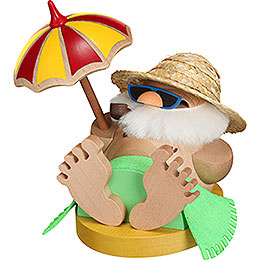 Smoker  -  Santa Incognito under Parasol  -  Ball Figure  -  12cm / 4.7 inch