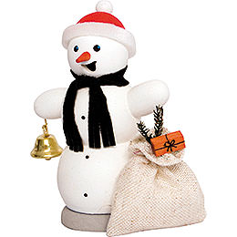 Smoker  -  Snowman with Present Sleigh  -  13cm / 5.1 inch