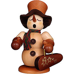 Smoker  -  Snowman with Violin Case Natural  -  23cm / 9.1 inch