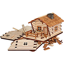"Smoking Hut  -  ""Cabin""  -  Handicraft Set  -  9cm / 3.5 inch"