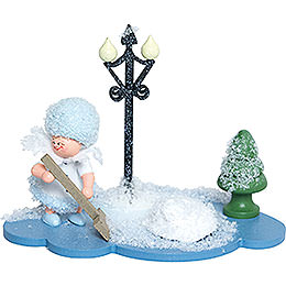 Snowflake with Snow Shovel  -  8cm / 3 inch