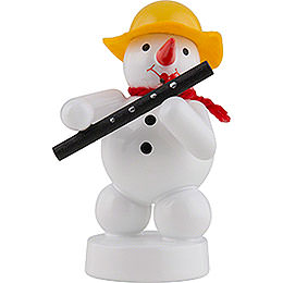 Snowman Musician with Oboe  -  8cm / 3 inch