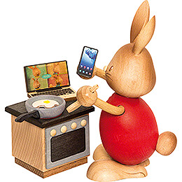 Snubby Bunny in Home Office  -  12cm / 4.7 inch