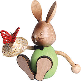 Snubby Bunny with Butterflies  -  12cm / 4.7 inch