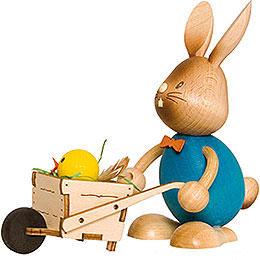 Snubby Bunny with Wheelbarrow  -  12cm / 4.7 inch