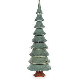 Solid Wood Tree  -  Green  -  17,5cm / 6.9 inch