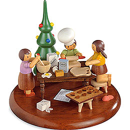 Theme Platform for Electr. Music Box  -  Christmas Bakery  -  Rolf Zuckowski Edition  -  13cm / 5 inch