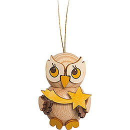 Tree Ornament  -  Owl Child with Star  -  4cm / 1.6 inch