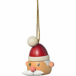 "Tree Ornament  -  ""Santa Claus' Head""  -  5cm / 2 inch"