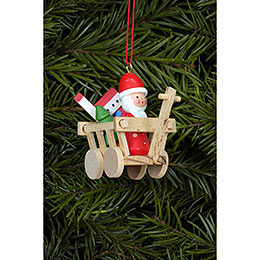 Tree Ornament  -  Santa in Car  -  5,4x4,7cm / 2.1x1.7 inch