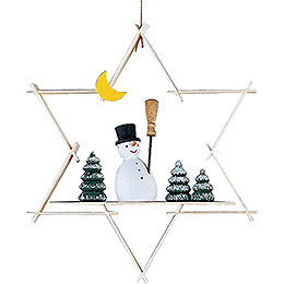 Tree Ornament  -  Snow Man  -  9,5cm / 3.7 inch