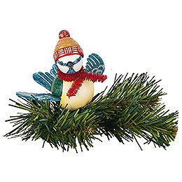 Tree Ornament  -  Tree Clip Blue Tit  -  6,5cm / 2,5 inch