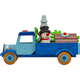 Tree Ornament  -  Truck Snowman with Tree  -  7,5cm / 3 inch