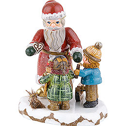 Winter Children Thank You Dear Santa Claus  -  9cm / 3,5 inch