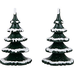 Winter Children Trees  -  Large  -  Set of 2  -  11cm / 4.3 inch