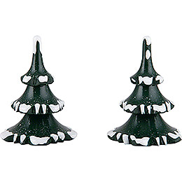 Winter Children Trees  -  Small  -  Set of 2  -  6cm / 2.4 inch